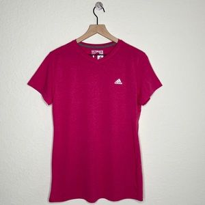 Adidas Ultimate Tee Hot Pink V Neck